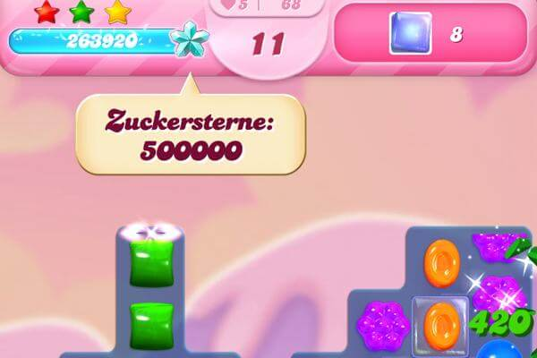 Candy Crush Zuckersterne